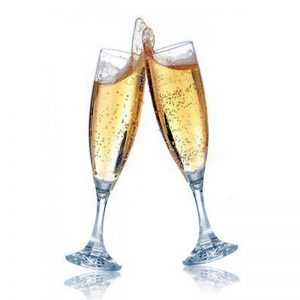 Champagne bal droit