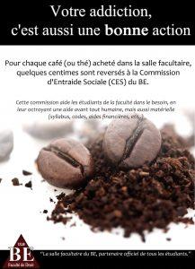 Pour chaque café acheté, vous renforcez la Commission d'Entraide Sociale !